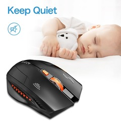 Noiseless Wireless Mouse Optical Mouse Gaming Silent usb rechargeable Mice 2400dpi Built-in Battery Matte Mouse one size