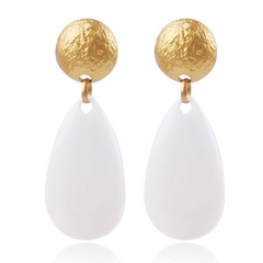 New eardrop European and American wind stud earrings personality contracted earrings white one size