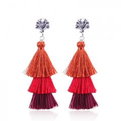 Tassel earrings in Europe and personality tassels eardrop act the role ofing is tasted Stud earrings red one size