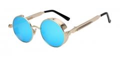Gothic Steampunk Sunglasses Men Women Metal WrapEyeglasses Round Shades Brand Designer Sun 1 oem