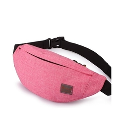 Mobile waterproof waist pack Lycra material breathable running waist slim sports waist bag black sky pink a