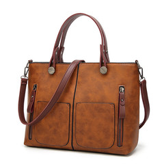 Vintage Women Shoulder Bag Female Causal Totes for Daily Shopping All-Purpose High Quality Handbag brown one size