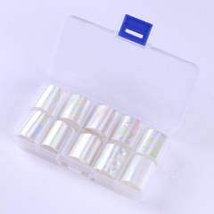 Nail star paper set laser glass sticker nail jewelry transfer paper starry glue shell pattern 1