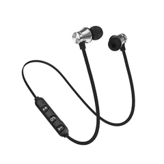 Wireless Headphone Bluetooth Earphone For Phone Neckband sport earphone Auriculare CSR Bluetooth silver