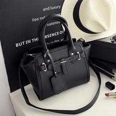 2017 fashion Women Handbag Women Messenger Bags Black Trapeze Bag Leather Shoulder Bags black one size