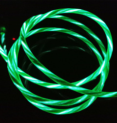 1M Luminescent Quick Charge 3.0 Cable Micro USB Cable LED Light Visible Android USB Cable for iPhone green for android