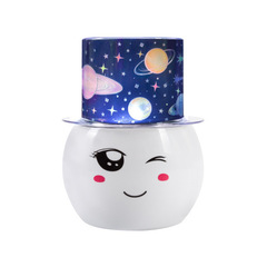 175 colorful LED projection lamp Tanabata gift Valentine's Day romantic birthday gift rotating light white one size 2w
