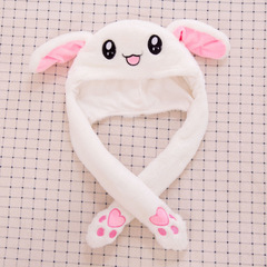A pinch ear will move the rabbit hat airbag magnet cap female plush cute 1