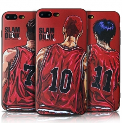 For iPhone 6 6S 6plus 6S plus 7 8 7plus 8 plus paited TPU DUNK silicon case phone case full cover red iphone 7 8