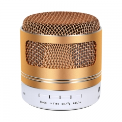 LED Light portable TF card support  bluetooth wireless and wired stereo sound music speaker audio gloden 3w 001