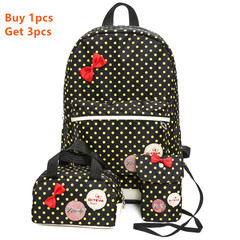 3pcs/set Children's School Bags Satchel Backpacks For Primary and Middle School Girls Schoolbags Black
