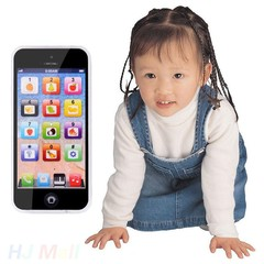 Baby Y-Phone Mobile Phone Educational Learning Cell Phone Music Electronic Toys For Children Kids black 12.5*5.8CM