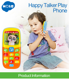 Baby Toys Cellphone Mobile Phone Early Educational Learning Machine Electric Phone for Kids Children AS Picture one size