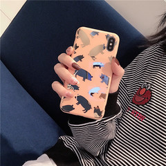 Hot Stamping Electroplating Blister Fashion Pig Case Back Cover for iPhone 6/6S plus 7/8 plus X/XSXR as picture iphone 6/6s