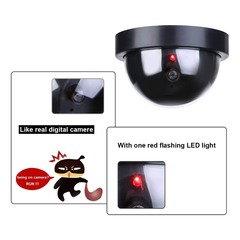Simulation Security Fake Dummy Camera with Flash LED Light Indoor Outdoor Video Wireless Fake Camera Black 120*118*90mm