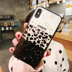 Creative leopard spotted epoxy Glitter Bling Fashion Phone Cases Cover For OPPO F5 A57/A39 A1 F9 A77 #1 oppo F5