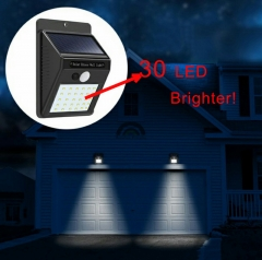 30 LED Eco-friendly Durable Motion Sensor Solar Power Fence Light Outdoor Street Lamp Walkway Lights As Picture 12*9.2*4.8mm 10W