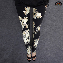 BE Brand New Fashion Women's Knitted Tights Casual Plus Pants Skinny Slim Women Pencil Pant Trousers 13# one size fit most (s~2xl)
