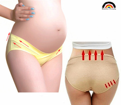 BE Brand Maternity Capri Low-waisted Panty For Pregnant Women Underwear SolidColor Pregnancy Clothes 5 Colors 5 PCs M