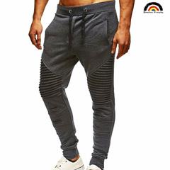 New Men's Casual Slacks 2 Colors Men Pant Fashion Joggers Pants Male Trousers Solid Pant Sweatpants dark gray m