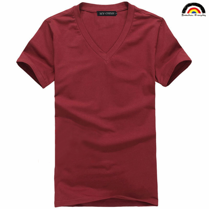 1d50aca5 BE Brand 10 colors Men's Basic Type V Neck Shirt Fashion Clothing Fitness  Casual For Male