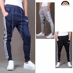 BE Brand Men's Harlan's Pant Outdoor Sport Korean Fashion Casual Trouser Side White Stripe Sweatpant navy m