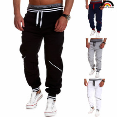 BE Brand 4 Colors 2018 Men's In Europe And The United States Casual Color Splicing Sports Trousers black m