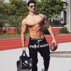 BE Brand HQ Men's New Fashion Fitness Sports Leisure Running Pants Cotton Thickened Stretch Trousers as picture m
