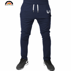 2019 Men Gyms Pants Casual Elastic Mens Fitness Workout Pants Thin Sweatpants Trousers Jogger Pants navy l