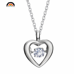 THE LIGHT OF LOVE Fashion High–quality Sterling Silver Necklace Cubic Zirconia Pendant With Chain white one size