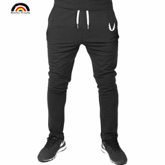 2019 Men Gyms Pants Casual Elastic Fitness Workout Pants Thin Sweatpants Trousers Jogger Black Pants black s