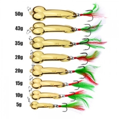 VIB Gold silver fishing lure bait 5g / 10g / 15g / 20g /28g /35g /43g 50g gold 5g