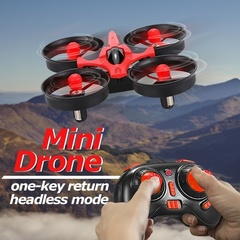 2.4g Remote Control Mini Four Axis Vehicle Handheld Headless Mode One Key Return UAV red 9.5*9.5*5