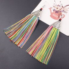 2018 Tassel fish mouth earrings  For wedding,banquet or daily Long Hanging fringe Earbob colours Length : 10.5cm