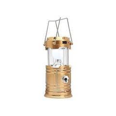Solar Bright LED Outdoor Recharge For Home, Camping TLight Lantern Hiking Fishing Lamp (Gold) gold gold - 100