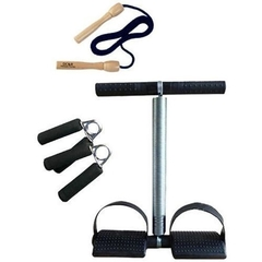 Tummy Trimmer plus FREE skipping rope and Hand grip black Black