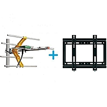 Digital TV Aerial + 10M Cable + TV Wall Mount Bracket 14