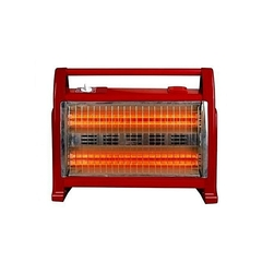 Premier Halogen room heater with two heat settings 800w/1600watts red