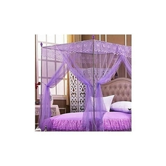 Mosquito net with straight metallic stands . purple 5*6