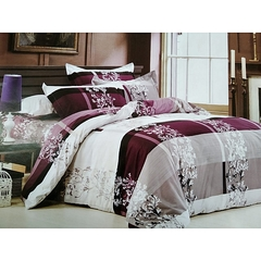 HEAVY COTTON DUVET WITH A BED SHEET AND 2 PILLOW CASS purple 4*6