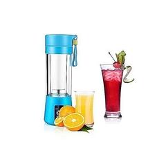 Portable Blender Juicer Cup / Electric Fruit Mixer / USB Rechargeable Juice Blender - Purple blue medium