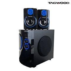 TAGWOOD MP-42a-AC\DC Subwoofer 2.1 Bluetooth,FM Radio Black black good music