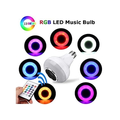LED Lamp Color Changing Bluetooth Speaker Night Light Bulb Remote white 50cm 100
