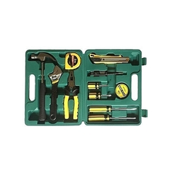 Durable 12 Pieces Home Portable Multi-functional Toolbox - Green GREEN medium