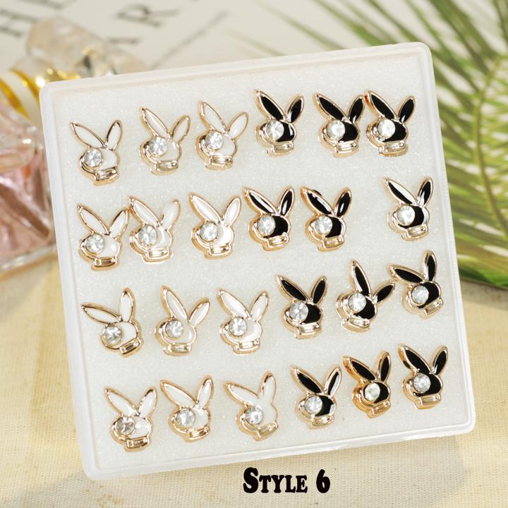 【BNW】Fashion earrings _24 ear studs, super style, hypoallergenic, jewelry set10099 Style 6 One size