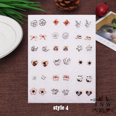 【BNW】Fashion earrings __36 earrings, a variety of styles, jewelry set10100 style 4 one size