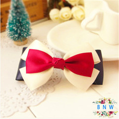 【BNW】Fashion bow hairpin navy style British hair accessories hair clips10112 color 2g