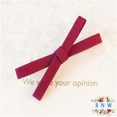 【BNW】Fashion cloth bow side clip bangs clip hair accessories hairpin10114 Red wine 5.0g