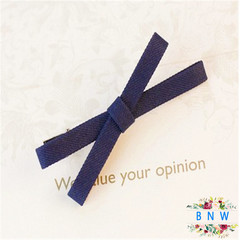 【BNW】Fashion cloth bow side clip bangs clip hair accessories hairpin10114 Ink-blue colour 5.0g