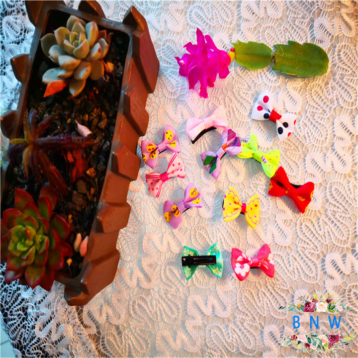 【BNW】Children's hair accessories small bow hairpin girl tiara hairpin10115 color